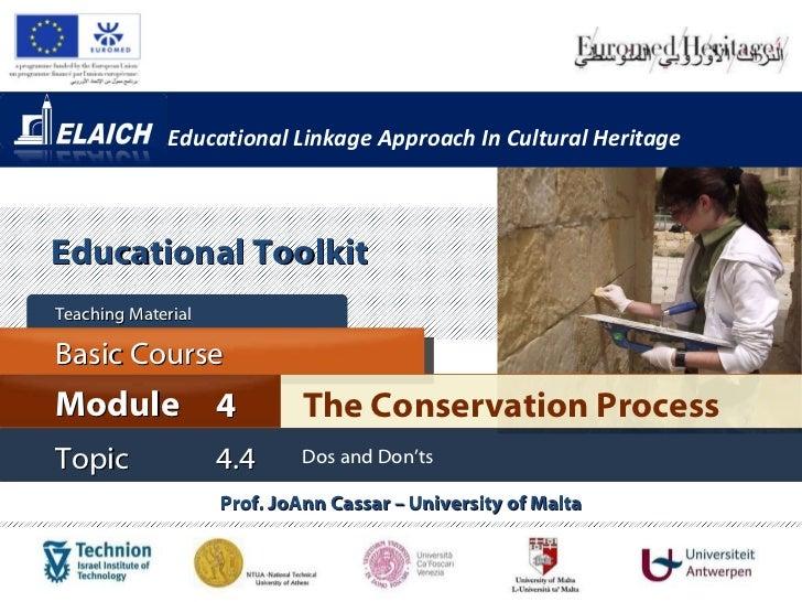 Elaich module 4 topic 4.4 - Dos and Don'ts