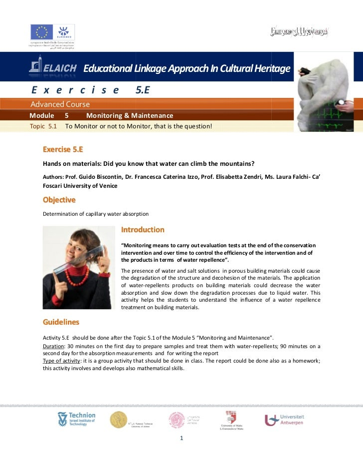 Educational Linkage Approach In Cultural HeritageE x e r c i s e                           5.EAdvanced CourseModule       ...