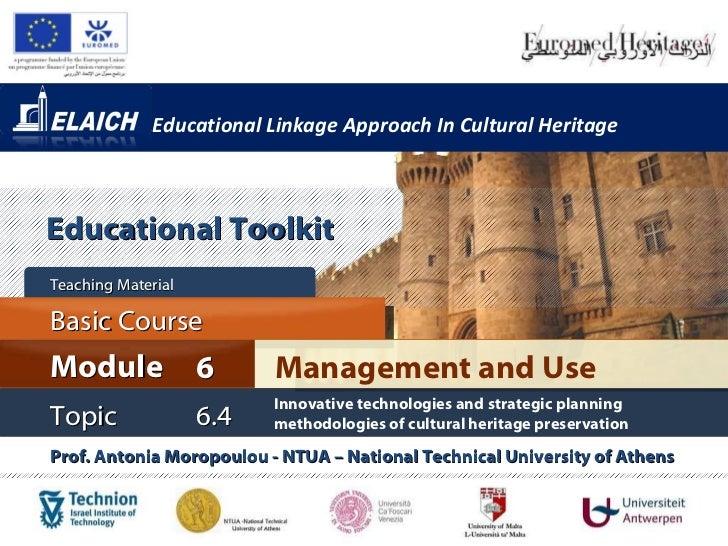 Elaich module 6 topic 6.4 - Innovative technologies