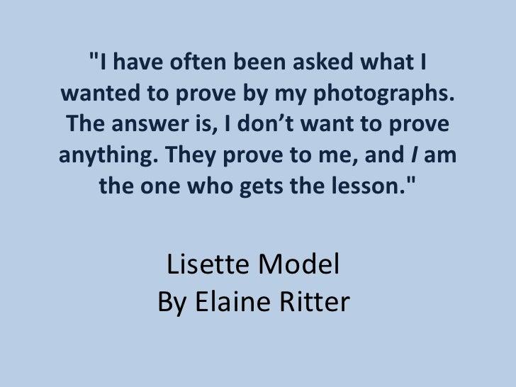Model / Ritter
