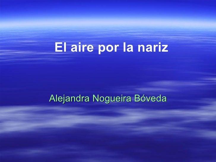 El aire por la nariz Alejandra Nogueira Bóveda