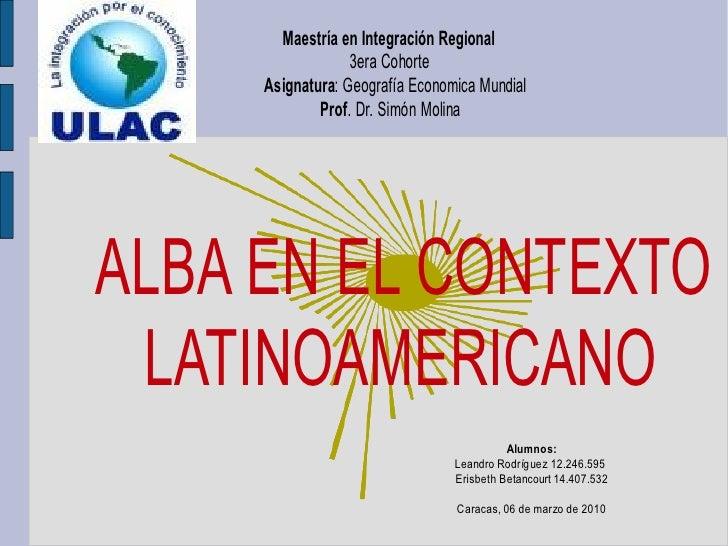 El alba en el contexto latinoamericano