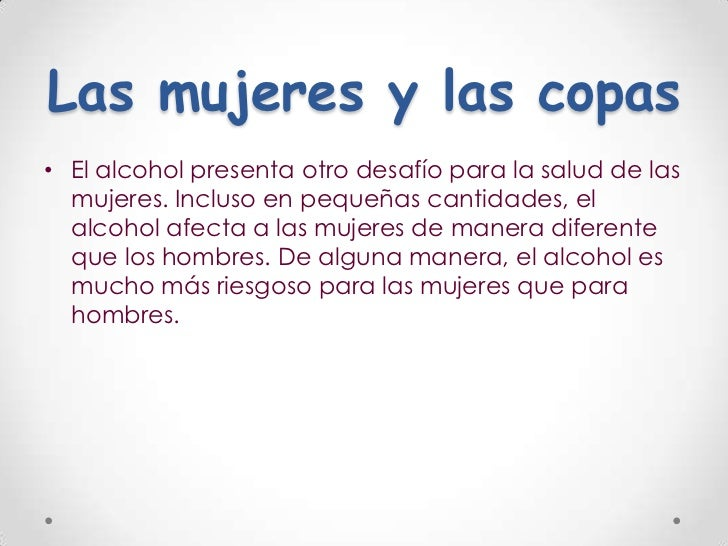 El alcoholismo influye sobre la potencia