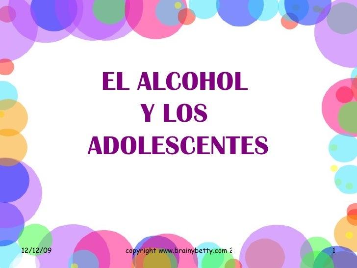 investigacion sobre alcoholismo en adolescentes: