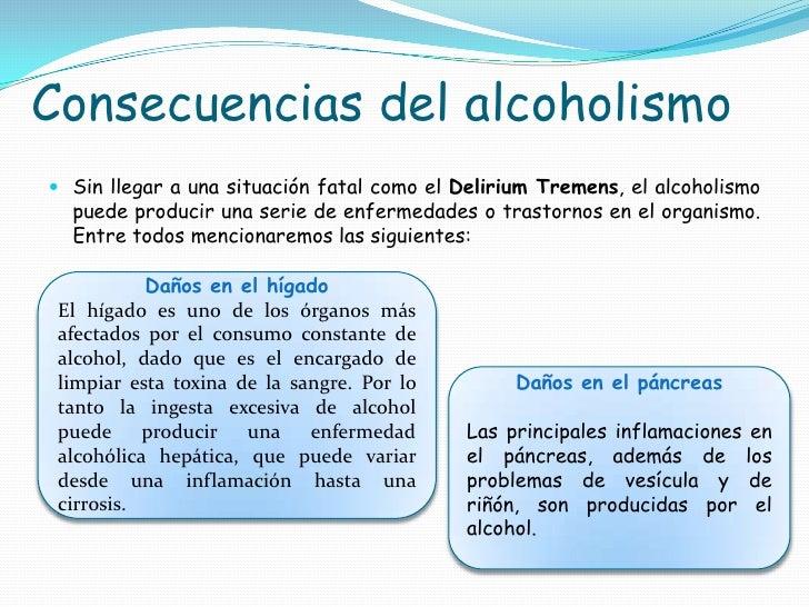 El informe al tema el alcohol y el alcoholismo