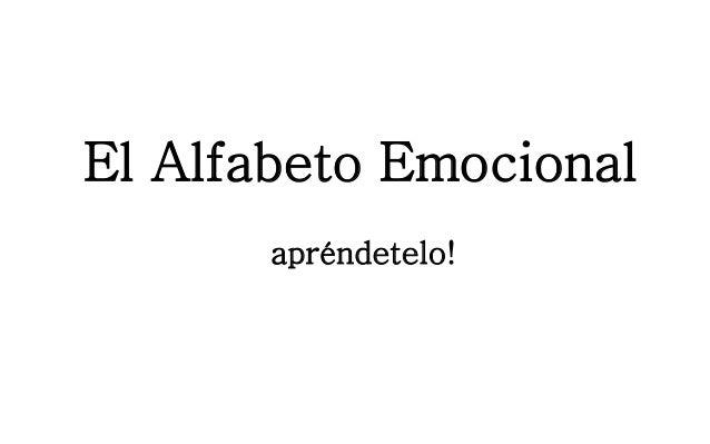 El Alfabeto Emocionalapréndetelo!