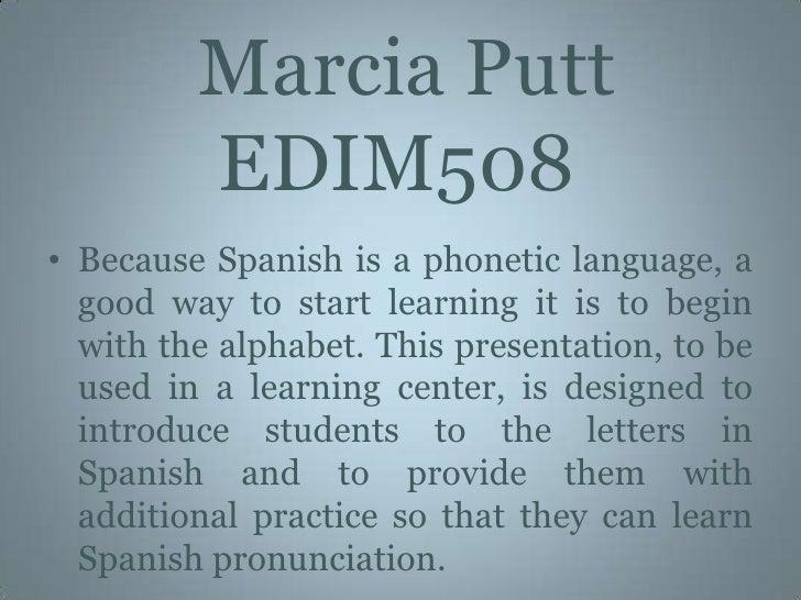 El Alfabeto EspañOl Power Point Presentation