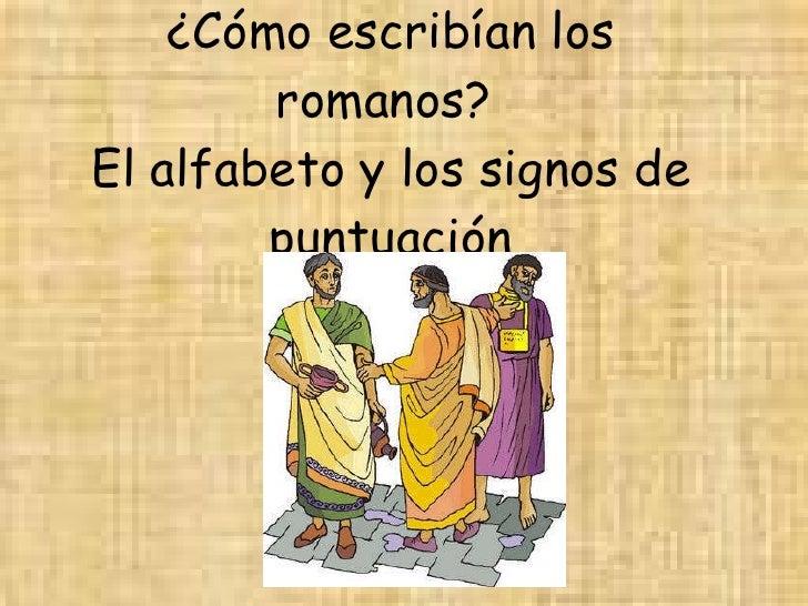 El alfabeto y signos prosódicos latinos