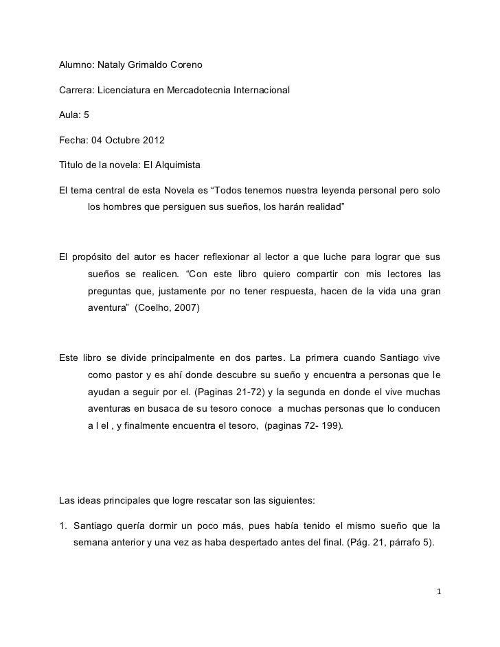 Alumno: Nataly Grimaldo CorenoCarrera: Licenciatura en Mercadotecnia InternacionalAula: 5Fecha: 04 Octubre 2012Titulo de l...