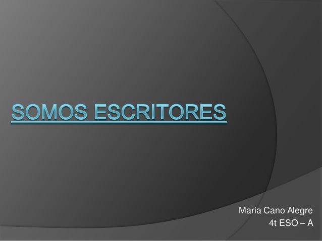 Maria Cano Alegre       4t ESO – A