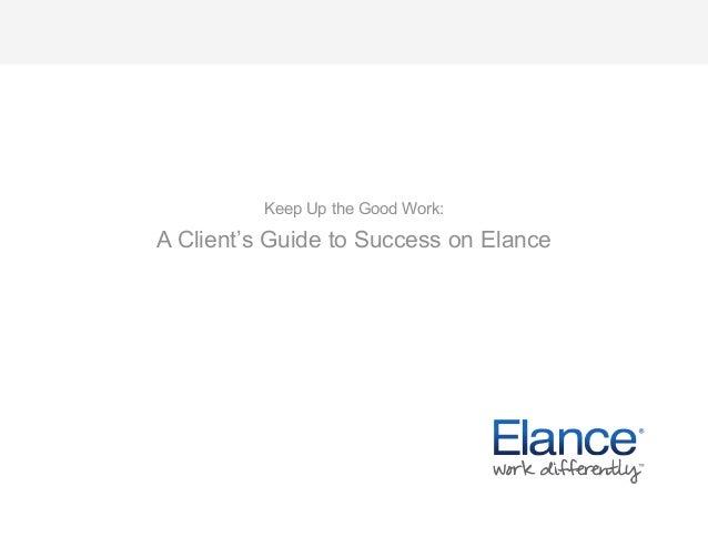 Elance Client Guide