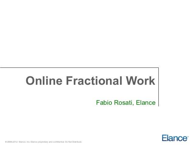 Online Fractional Work                                                                                   Fabio Rosati, Ela...