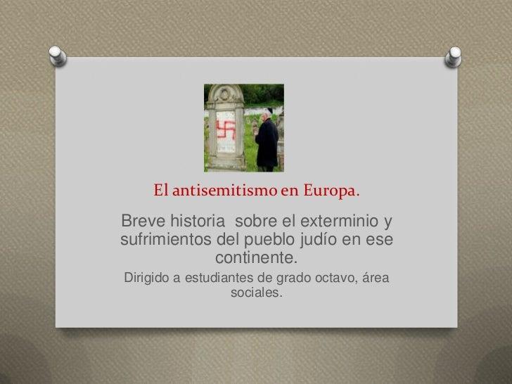 El antisemitismo en europa bis
