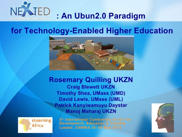 NextEd: an Ubun2.0 paradigm for technology enabled HE