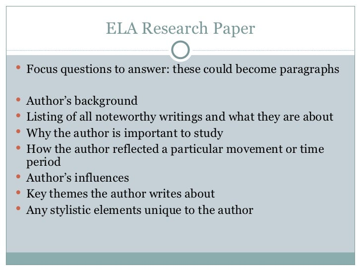 Questions To Answer In A Research Paper