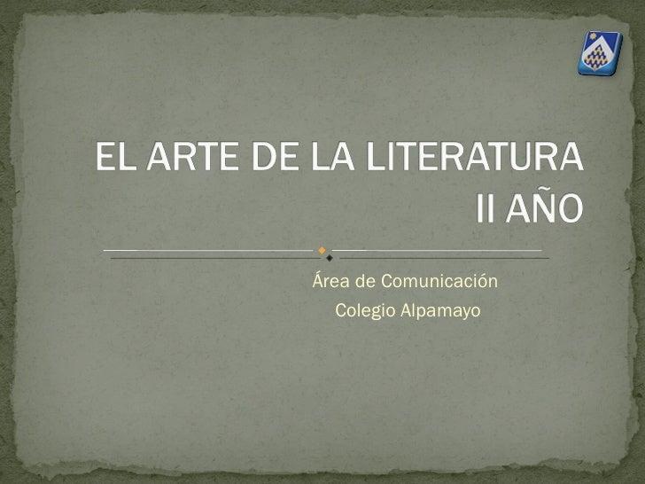 El Arte De La Literatura 2