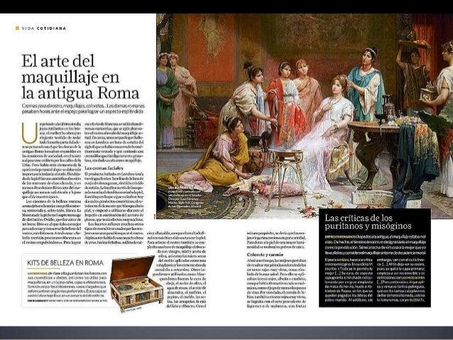 El arte del maquillaje en la Antigua Roma