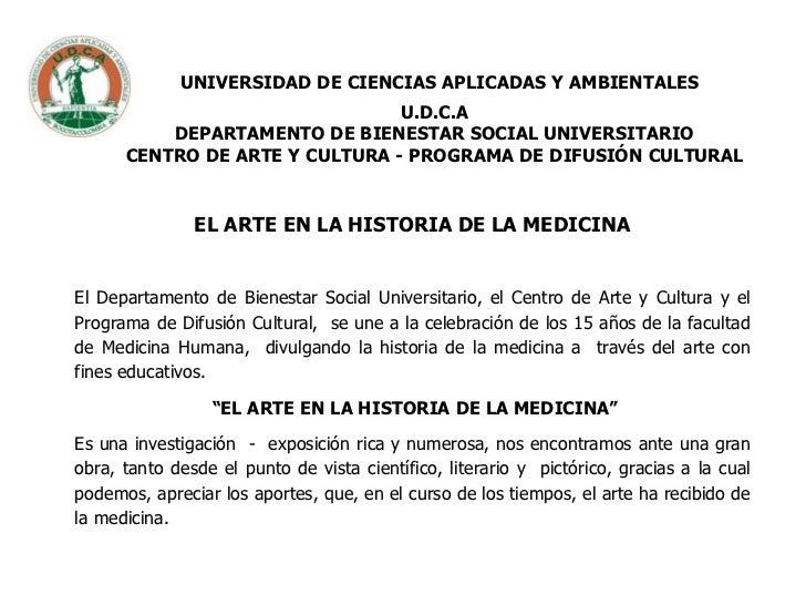 UNIVERSIDAD DE CIENCIAS APLICADAS Y AMBIENTALESU.D.C.ADEPARTAMENTO DE BIENESTAR SOCIAL UNIVERSITARIOCENTRO DE ARTE Y CULTU...