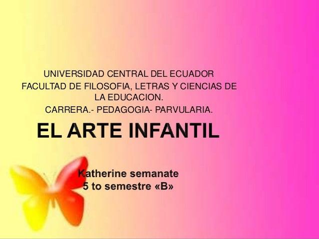 UNIVERSIDAD CENTRAL DEL ECUADOR FACULTAD DE FILOSOFIA, LETRAS Y CIENCIAS DE LA EDUCACION. CARRERA.- PEDAGOGIA- PARVULARIA.