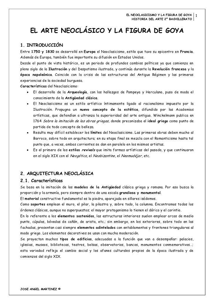 EL NEOCLASICISMO Y LA FIGURA DE GOYA       1                                                                   HISTORIA DE...