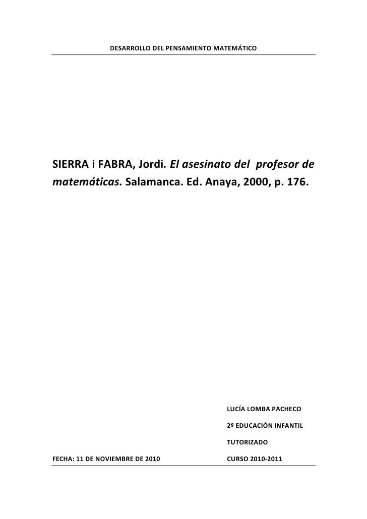 DESARROLLODELPENSAMIENTOMATEMÁTICO                                                                      SIERRAiFAB...