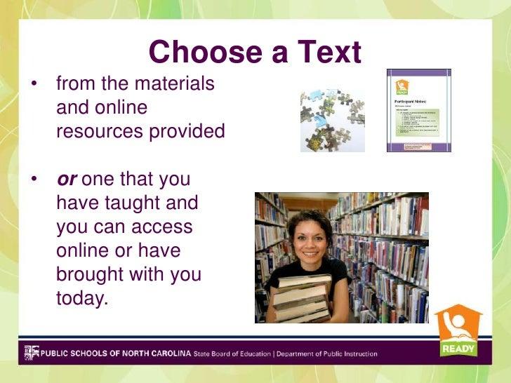 ELA SI Choose a Text 2012