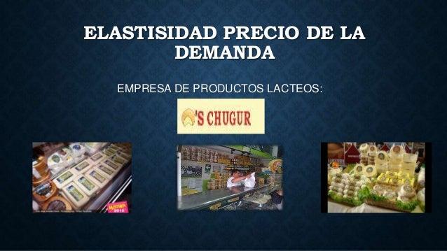 ELASTISIDAD PRECIO DE LA DEMANDA EMPRESA DE PRODUCTOS LACTEOS: CHUGUR´S