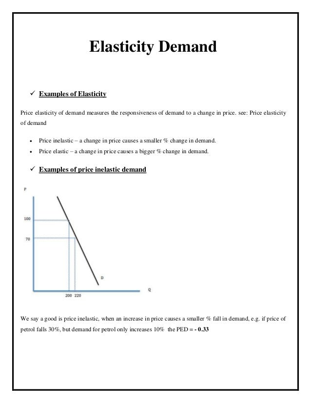Change in Demand Examples Elasticity Demand  Examples