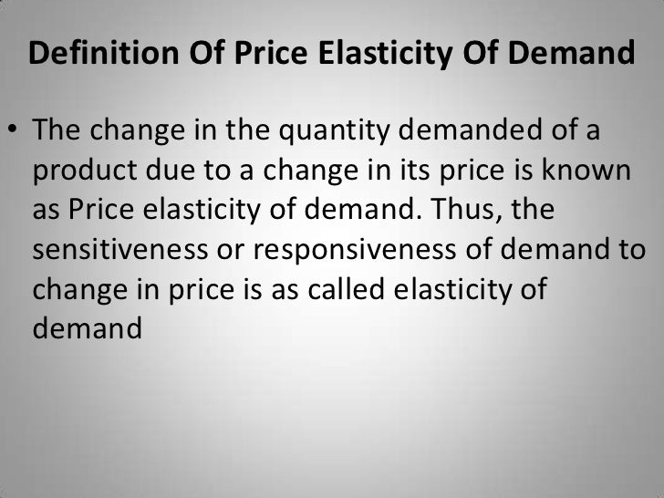 price elascity of demand The meaning of price elasticity of demand and the factors that influence it.