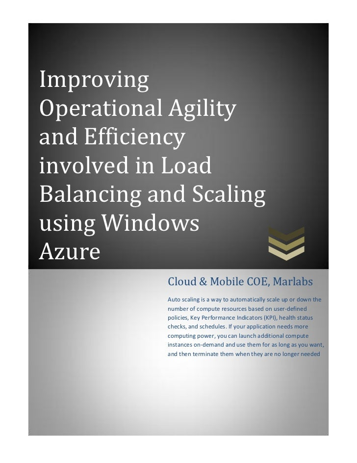 Marlabs - Elastic scalability Azure v1 0