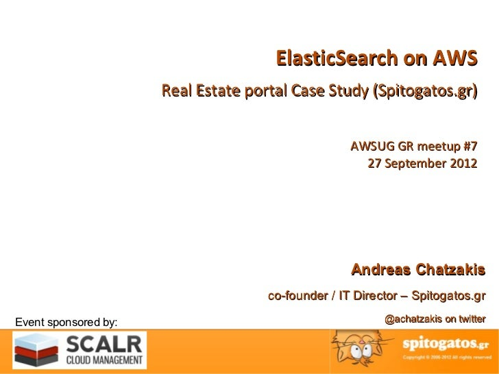 ElasticSearch on AWS - Real Estate portal case study (Spitogatos.gr)