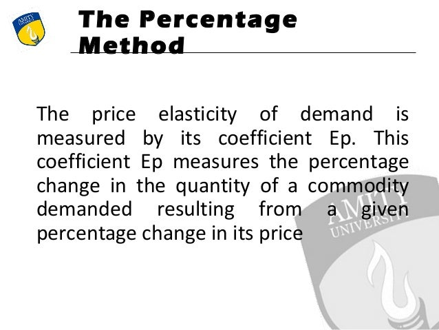 an analysis of the topic of the price elasticity of demand Every topic and concepts in economics are clearly explained to understand by  students of economics  demand analysis  according to alfred marshall:  elasticity of demand may be defined as the percentage change in quantity  demanded.