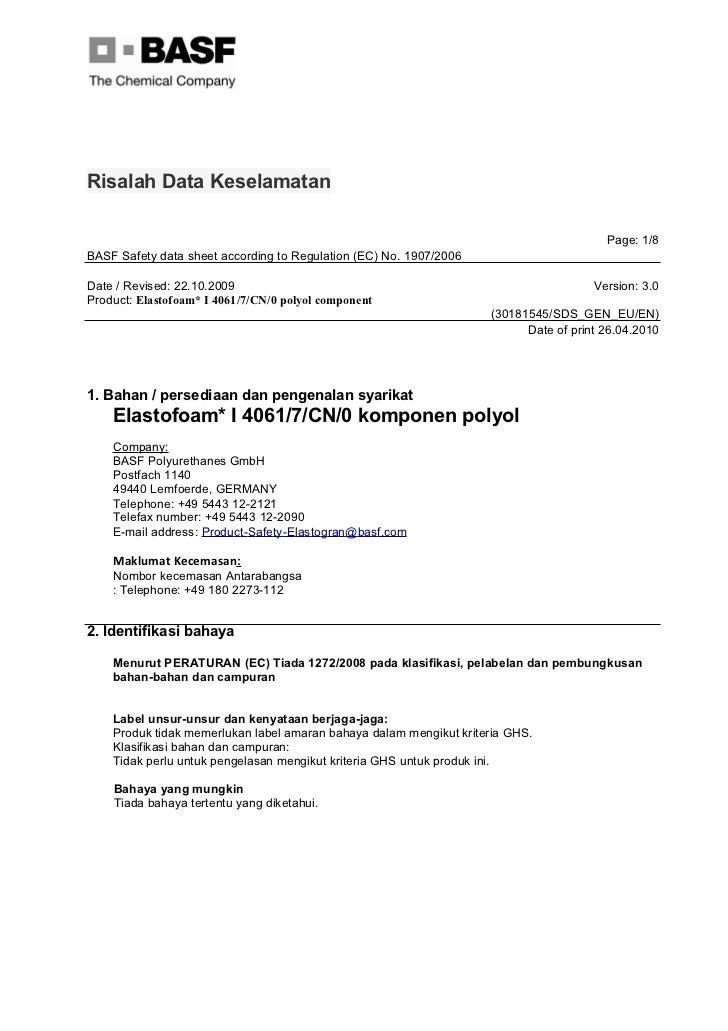Elastotofoam i 4061 7-cn-0 malay
