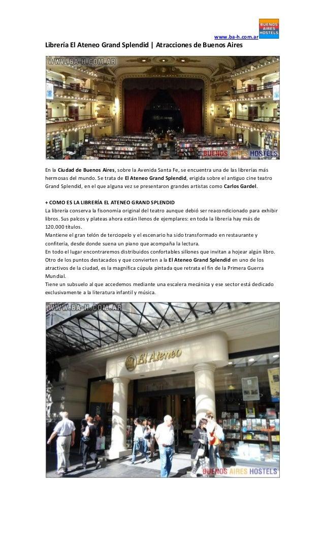 www.ba-h.com.arLibrería El Ateneo Grand Splendid | Atracciones de Buenos AiresEn la Ciudad de Buenos Aires, sobre la Aveni...
