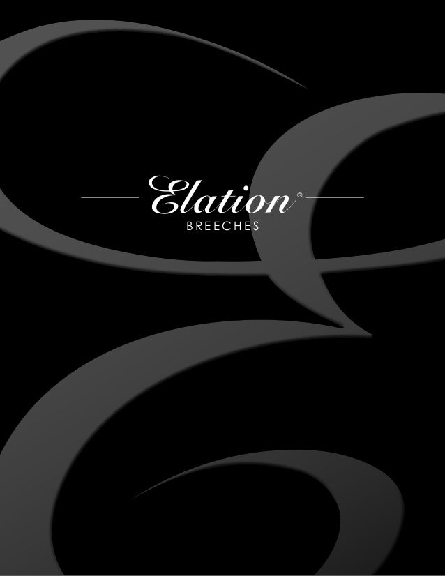 Equestrian Brands International Elation Breeches Catalog 2013