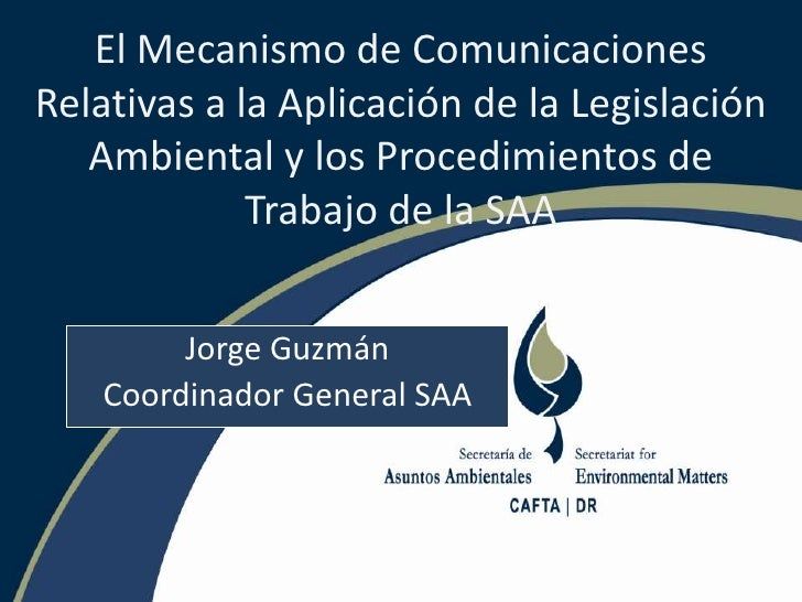 CAFTA Panel: Jorge Guzmán