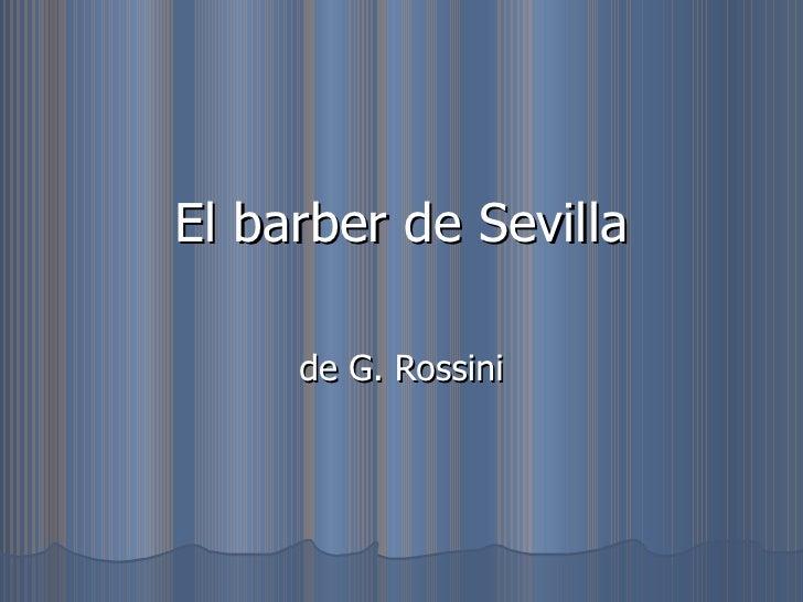El barber de sevilla