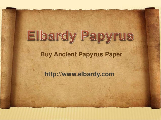 where to buy papyrus paper Egyptians came up with the first method of making paper using the stem from a water plant they cut it up, soaked it, flattened it and dried it the outcome was a sheet of paper they called papyrus.