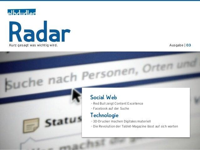 RadarKurz gesagt was wichtig wird.                                                          Ausgabe | 03                  ...