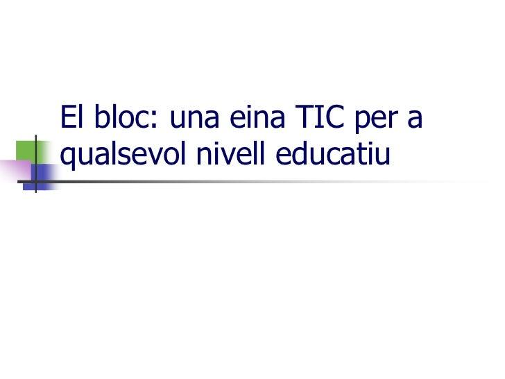 El bloc