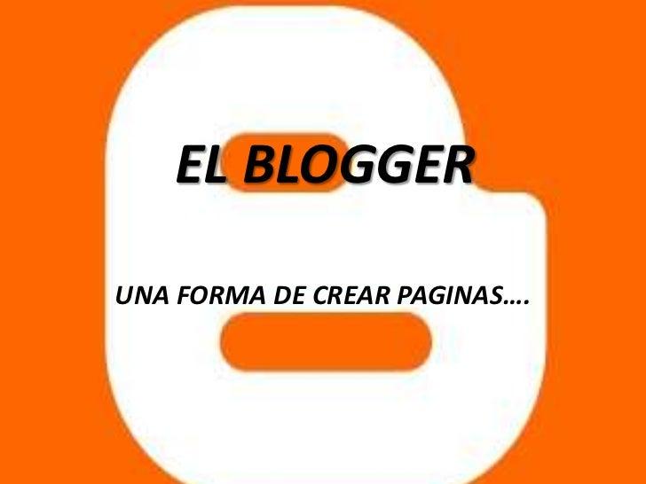 El blogger