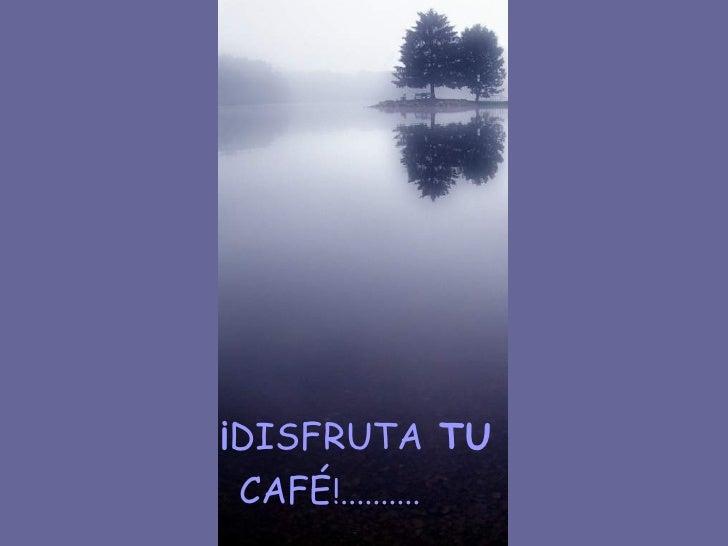 ¡ DISFRUTA  TU CAFÉ !..........