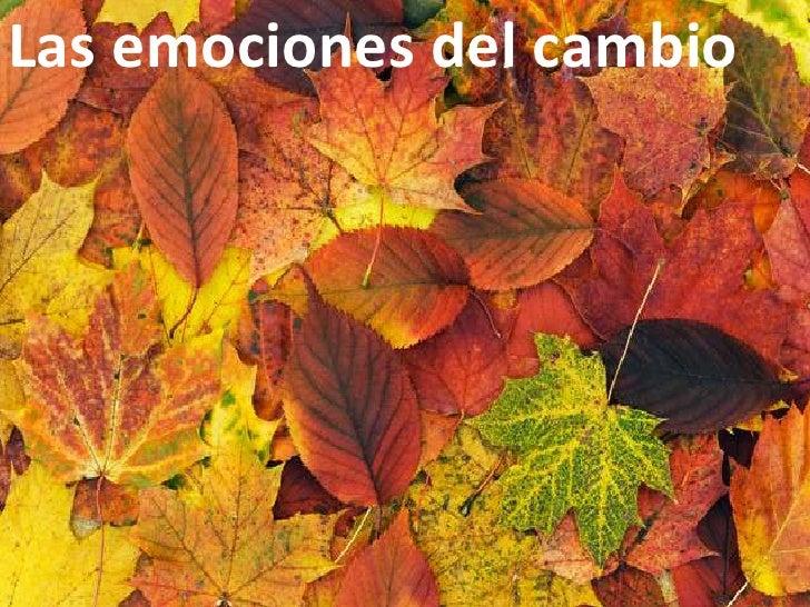 Las emociones del cambio