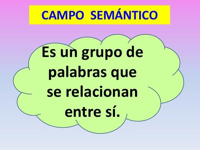 Resultado de imagen de Campo semántico