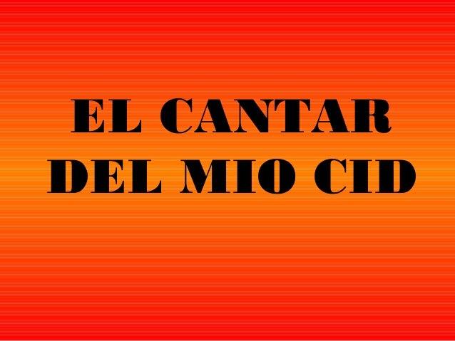 EL CANTARDEL MIO CID