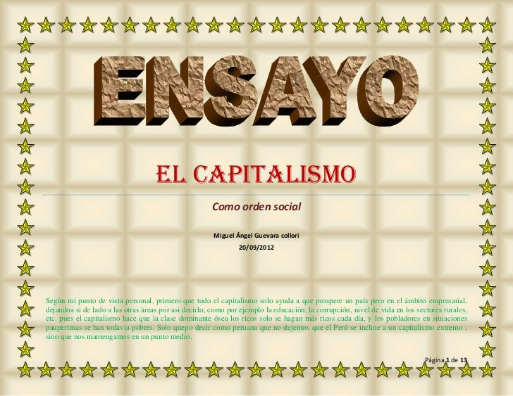 EL CAPITALISMO                                                      Como orden social                                     ...