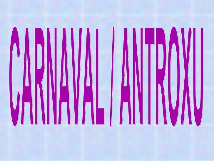 El Carnaval. Sara