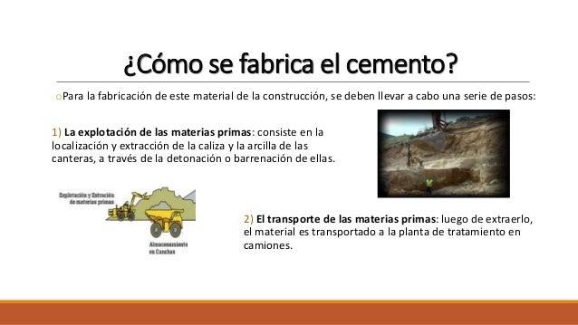 El cemento for Como se fabrica el marmol