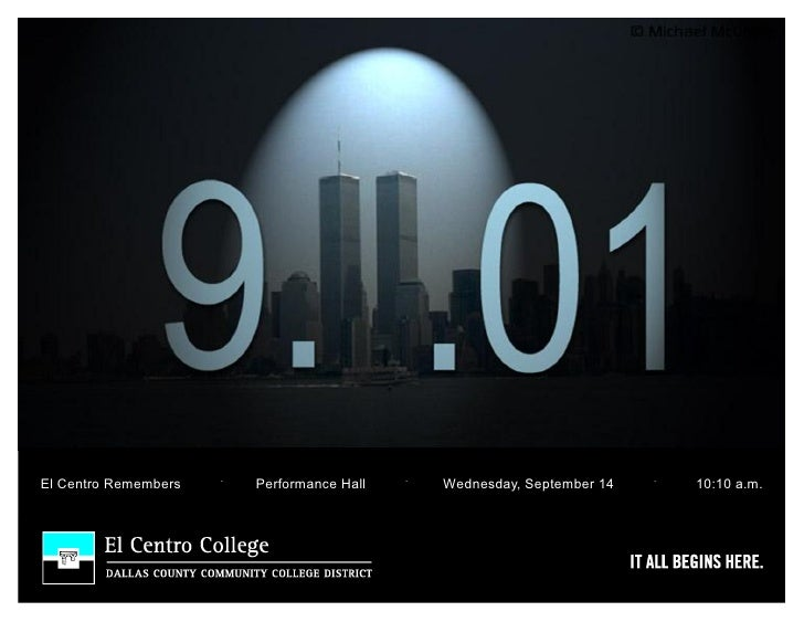 .                      .                             .El Centro Remembers       Performance Hall       Wednesday, Septembe...