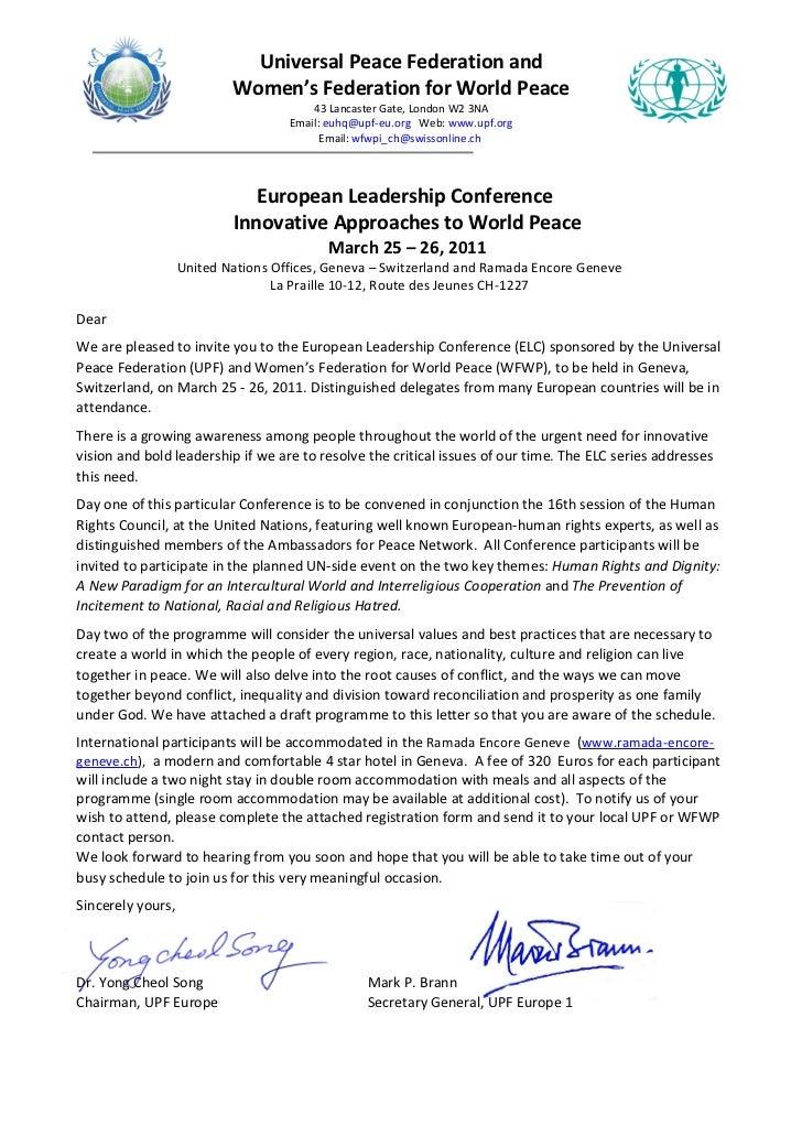 Human RIghts Conference in Geneva at UN- March 2011 invitation
